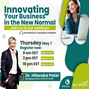 """Global Webinar: """"Innovating your Business in the New Normal"""""""